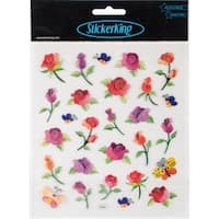 Multi-Colored Stickers-Long Stemmed Roses