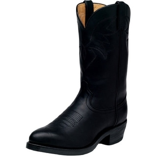 "Durango Western Boots Mens 11"" Leather Cowboy Heel Oiled Black TR760"