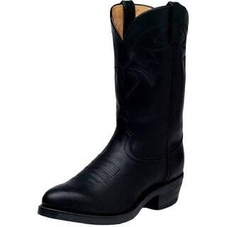 "Durango Western Boots Mens 11"" Leather Cowboy Heel Oiled Black"