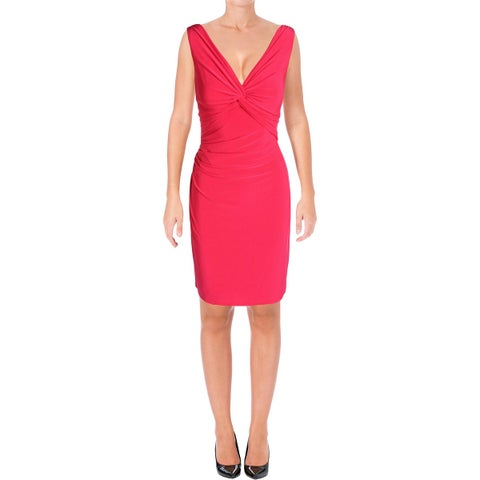 Lauren Ralph Lauren Womens Ferdette Party Dress Jersey A-line