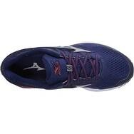 Mizuno Men's Wave Rider 20 Running Shoe, Blue Depths/Silver, 13 D US