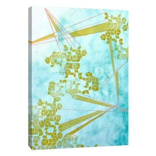 """PTM Images 9-108614  PTM Canvas Collection 10"""" x 8"""" - """"Golden Fractals 1"""" Giclee Abstract Art Print on Canvas"""