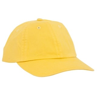 Low Profile Dyed Cotton Twill Cap - Yellow