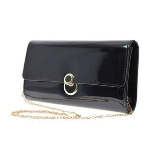 Cicel Girl Pu Leather Fashion Evening Bag Womens Metal Chain Shoulder Handbag
