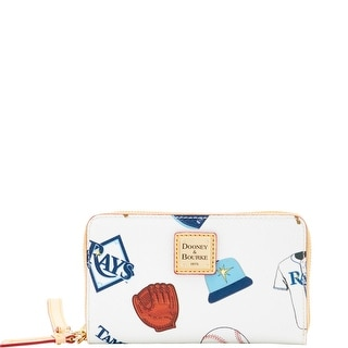 Dooney & Bourke MLB Rays Zip Around Phone Wristlet (Introduced by Dooney & Bourke at $118 in Mar 2016) - White