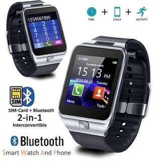 Indigi® Universal Compatible (iOS & Android) GSM Wireless SmartWatch & Phone (2 in 1) w/ Built In Camera + Notifications