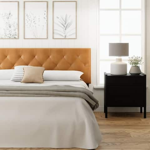 Brookside Avery Adjustable Faux Leather Headboard