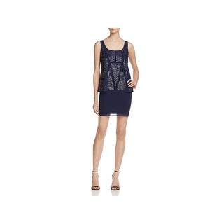 Laundry by Shelli Segal Womens Cocktail Dress Beaded Sleeveless (More options available)