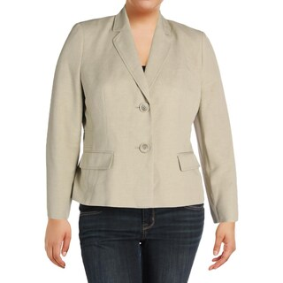 Le Suit Womens Petites Two-Button Blazer Long Sleeves Polyester - 16p