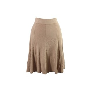Alfani Camel Fit & Flare Sweater Skirt S