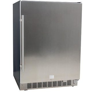 EdgeStar CBR1501SLD 24 Inch Wide 142 Can Built-In Beverage Cooler with Stainless Steel Door
