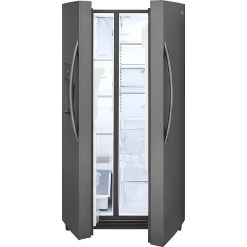 Frigidaire FGSS2635TD Gallery 25.5 Cu. Ft. Side-by-Side Refrigerator - Black Stainless Steel