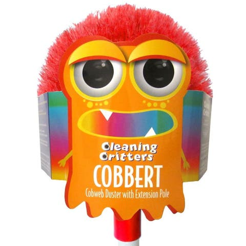 """Ettore 32000 Cleaning Critters Cobbert Cobweb Duster w/ Extension Pole, 59"""""""
