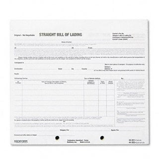 Shipping Bill of Lading Short Form 8-1/2 x 7 Four-Part 250