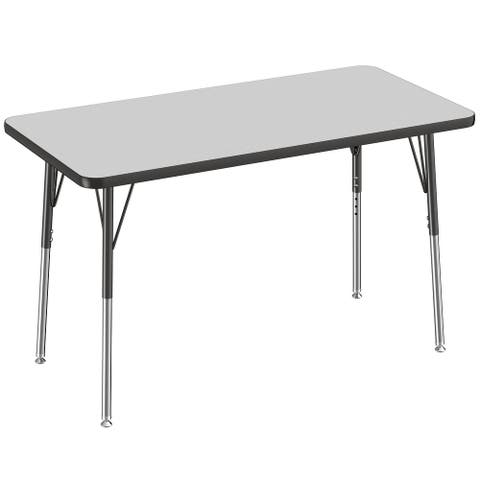 "24"" x 48"" Rectangle Activity Table with Adjustable Swivel Glide Legs"