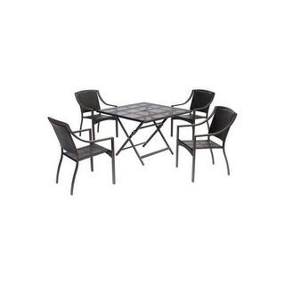 Hanover Outdoor ORLDN5PCSQ-BRN Orleans 5-Piece Dining Set with 42 In. Square Table - brown https://ak1.ostkcdn.com/images/products/is/images/direct/e0861d87203a739b88b94961255ebe8d893932c4/Hanover-Outdoor-ORLDN5PCSQ-BRN-Orleans-5-Piece-Dining-Set-with-42-In.-Square-Table.jpg?impolicy=medium