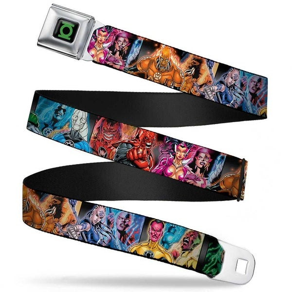 Green Lantern Logo Close Up Black Green Lantern The Blackest Night Heroes & Seatbelt Belt