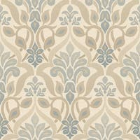 Brewster 2535-20646 Fusion Blue Ombre Damask Wallpaper - N/A