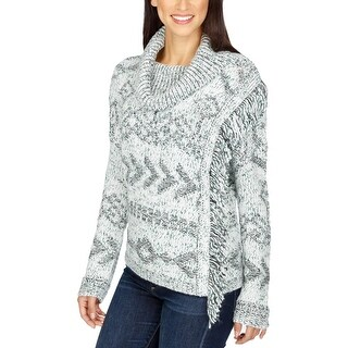 Lucky Brand Womens Pullover Sweater Knit Cowl Neck