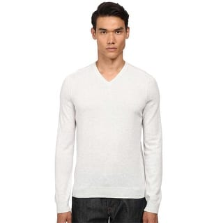 Vince Trim Fit Ultrasoft Cashmere V-Neck Sweater White Heather Large L|https://ak1.ostkcdn.com/images/products/is/images/direct/e087f20b0f3ad6294e39c3935793d213f7419bcd/Vince-Trim-Fit-Ultrasoft-Cashmere-V-Neck-Sweater-White-Heather-Large-L.jpg?impolicy=medium