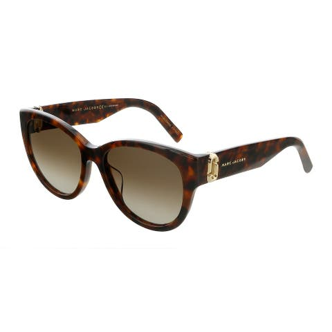 Marc Jacobs MARC181S 86 Dark Havana Round Sunglasses - 54-18-140