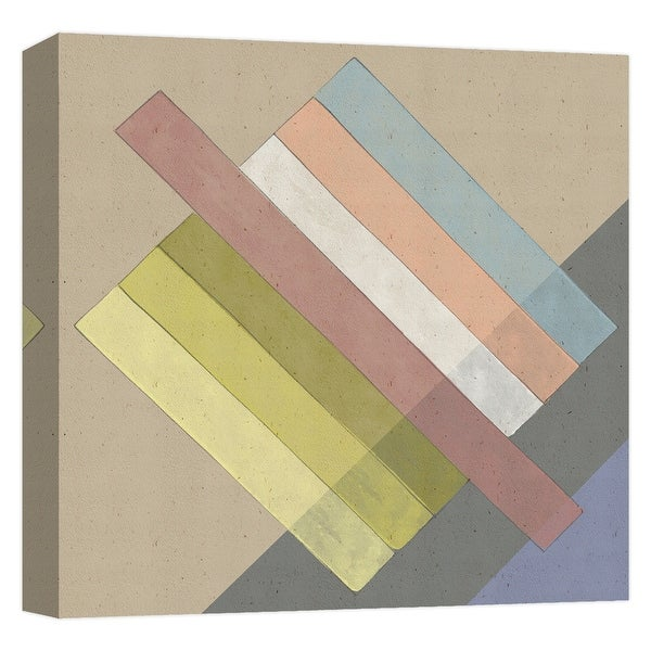 """PTM Images 9-124759 PTM Canvas Collection 12"""" x 12"""" - """"Chalk Stripes"""" Giclee Patterns and Designs Art Print on Canvas"""