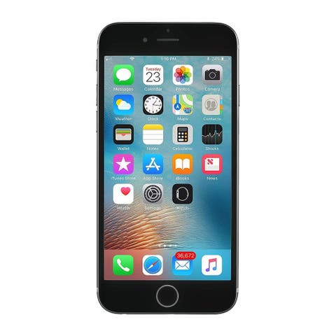 """Apple iPhone 6s 128GB 4.7"""" 4G LTE Verizon Only,Space Gray (Refurbished) - Space Gray"""