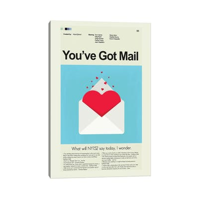 """iCanvas """"You've Got Mail"""" by Prints and Giggles by Erin Hagerman Canvas Print"""