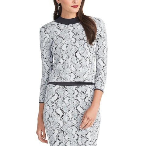 Rachel Rachel Roy Women's Lindey Sweater Top Gray Size Medium