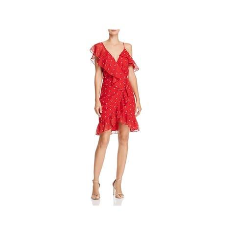 WAYF Womens Afragola Mini Dress Short Cocktail - Red Rose - L