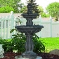 Sunnydaze Two Tier Tulip Solar On Demand Fountain, 36 Inch Tall - Thumbnail 1