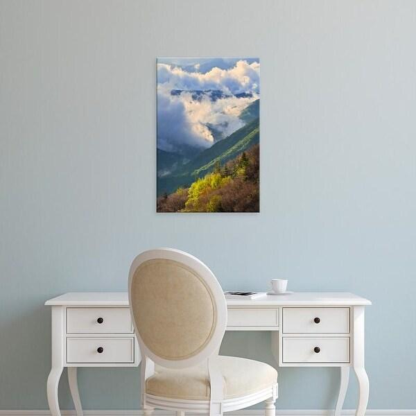 Easy Art Prints Adam Jones's 'Clouds In Oconaluftee Valley At Sunrise' Premium Canvas Art