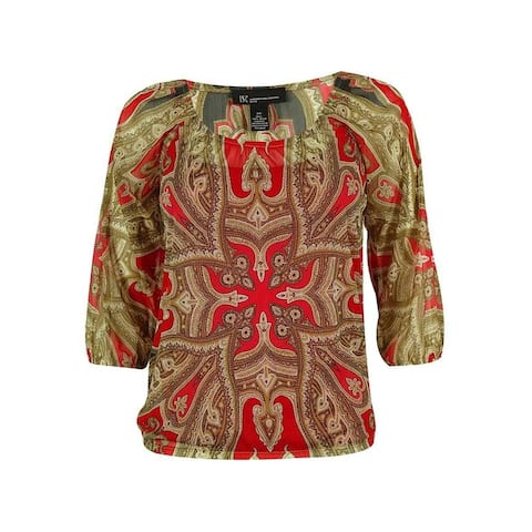 INC International Concepts Women's 2-Piece Peasant Top