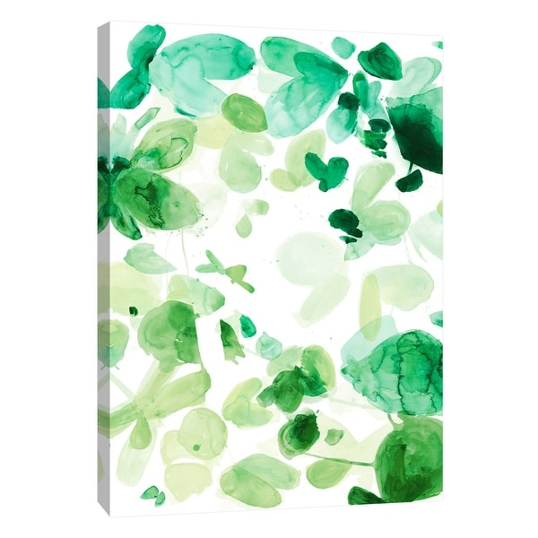 """PTM Images 9-108390 PTM Canvas Collection 10"""" x 8"""" - """"Butterfly Dance in Green C"""" Giclee Abstract Art Print on Canvas"""