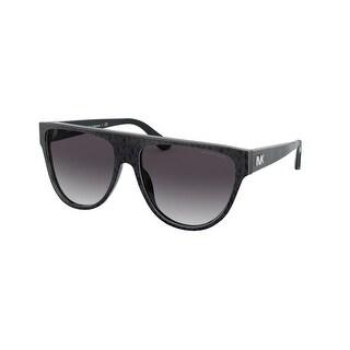 Link to Michael Kors MK2111 35568G 57 Black Grey Jacquard Logo Woman Irregular Sunglasses Similar Items in Women's Sunglasses