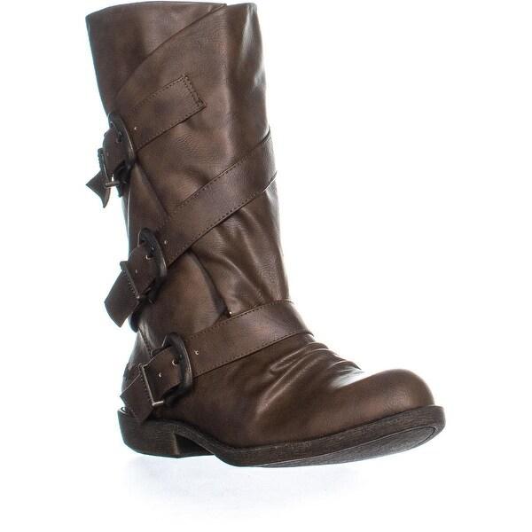 b448944635e Shop Blowfish Alms Buckle Mid Calf Boots
