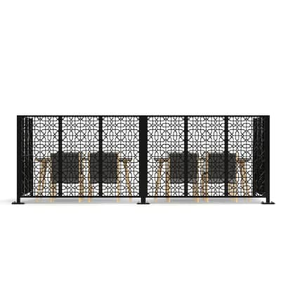 LaserCut Metal Panel Room Partition For Cafe And Restaurant