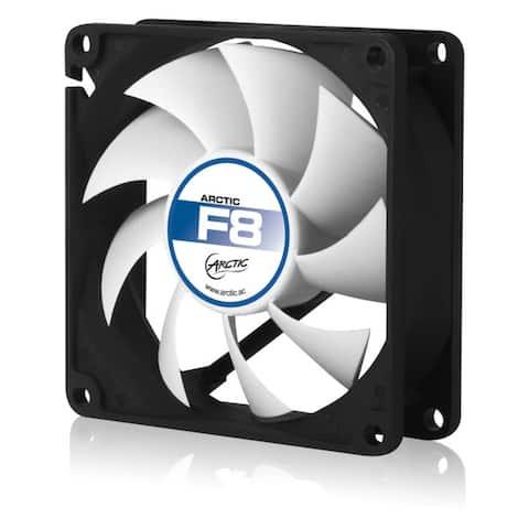 Arctic Cooling F8 80mm Low Noise PC Computer Case Fan (Black / White) - NEW