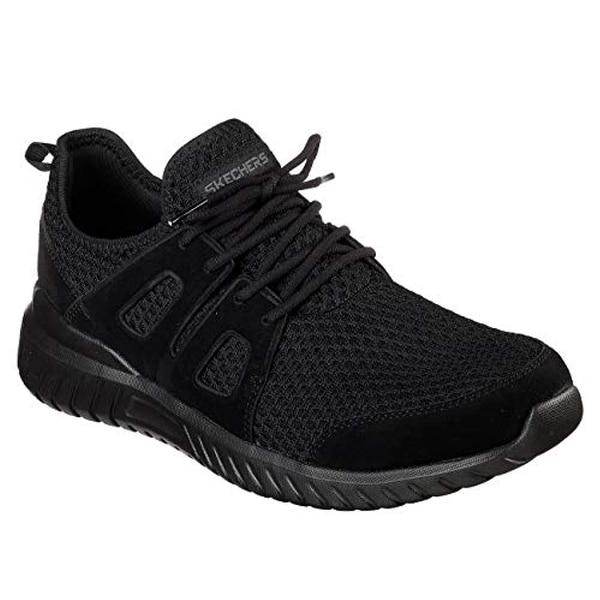 e6d43e64bd2b9 Skechers 52822-Bbk: Sport Rough Cut Men's Fashion Black/Black Sneakers (12  D(M) Us)