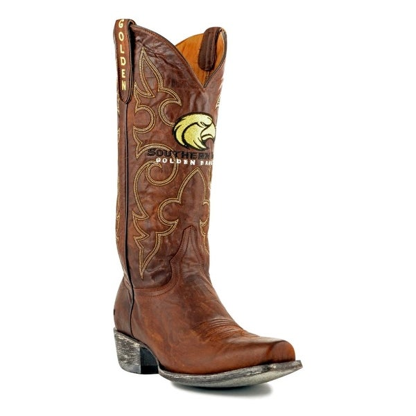 Gameday Boots Mens College Southern Mississippi Brass