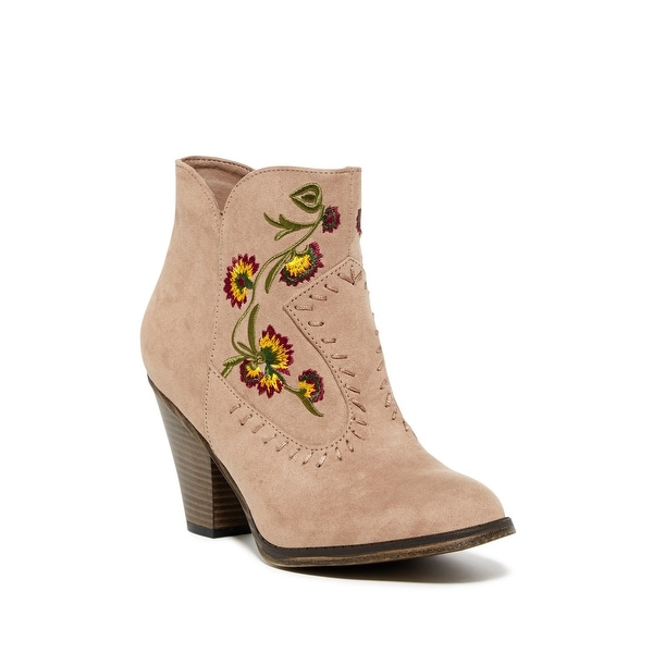 MIA Womens Melrose Fabric Closed Toe Ankle Cowboy Boots