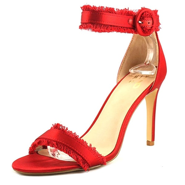 Mix No 6 Rayane Women Open Toe Canvas Red Sandals