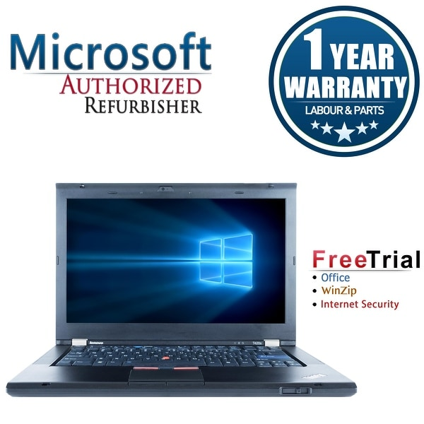"Refurbished Lenovo ThinkPad T420S 14.0"" Intel Core i5-2520M 2.5GHz 4GB DDR3 320GB DVD Win 10 Pro 64 (1 Year Warranty) - Black"