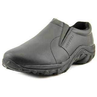 Merrell Jungle Moc Pro Grip Men Round Toe Leather Black Work Shoe