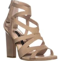 French Connection Isla Strappy Heel Sandals, Sand - 8.5 us / 39 eu