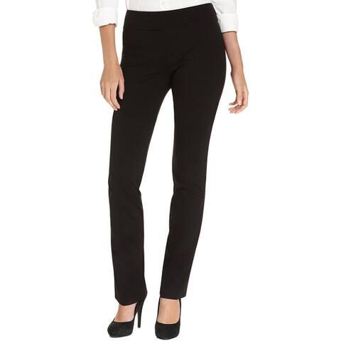 Karen Kane Womens Dress Pants Knit Flat Front - Black