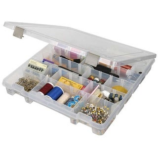 """ArtBin Super Satchel Slim 8-28 Compartments -15.25""""X14""""X2"""" Translucent"""