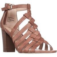 XOXO Baxter Steappy Heel Sandals, Tan