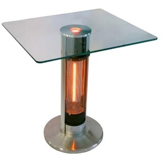 EnerG+ Outdoor square bistro style table with infrared electric heater tower HEA-1575J67L-2 - Silver