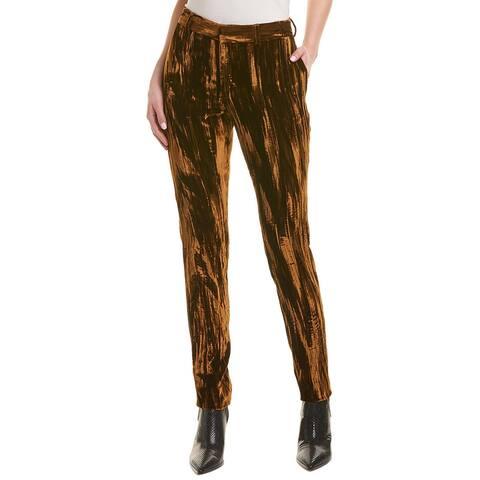 Saint Laurent Crinkled Silk-Blend Trouser